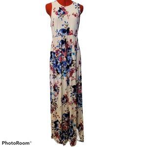 Bellamie Floral Racerback Maxi Dress SZ XL